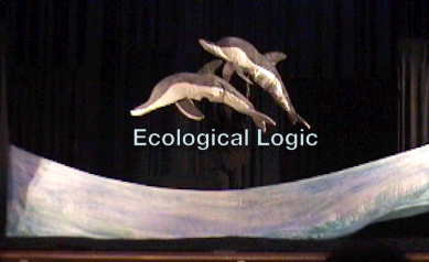 Ecological Logic's Dolphins jump in the ocean.